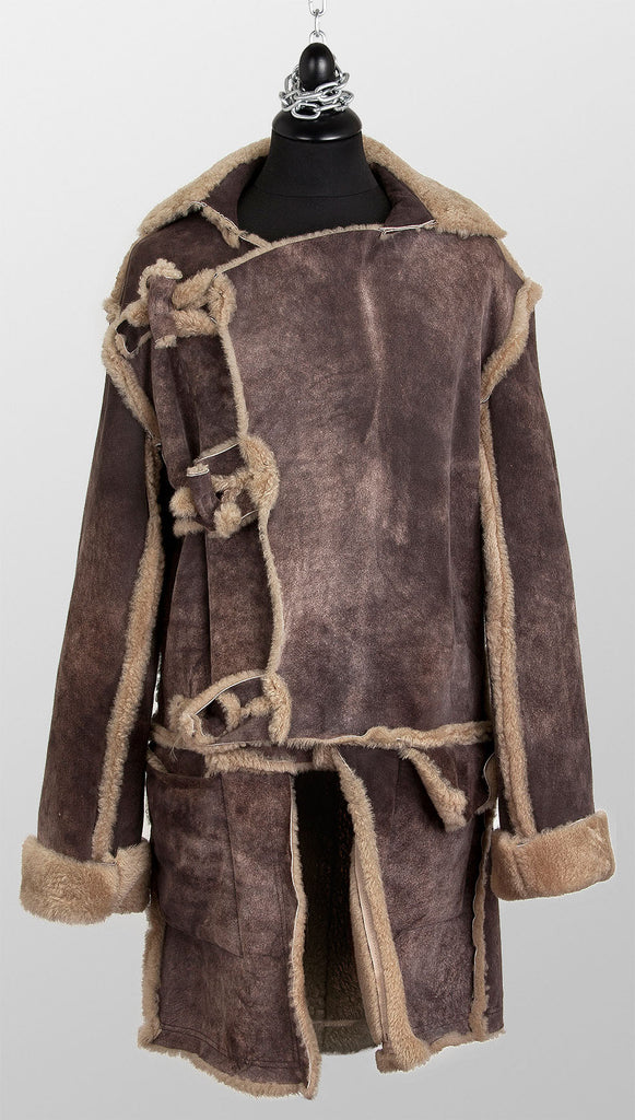 "Vivienne Westwood MAN ""Fagin"" Shearling Mud Coat – Brown"