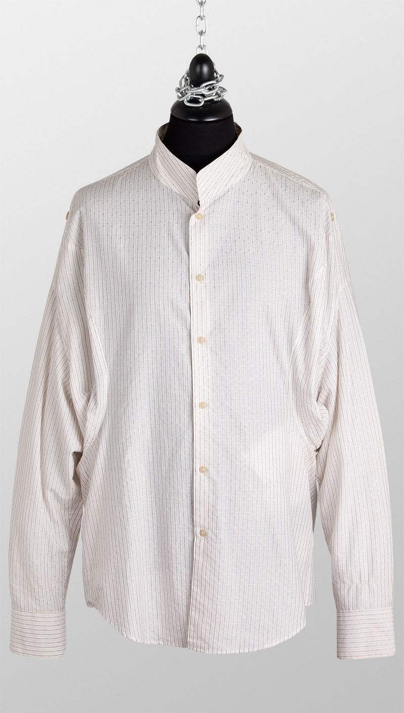 vivienne westwood man pocket shirt gold stripe front