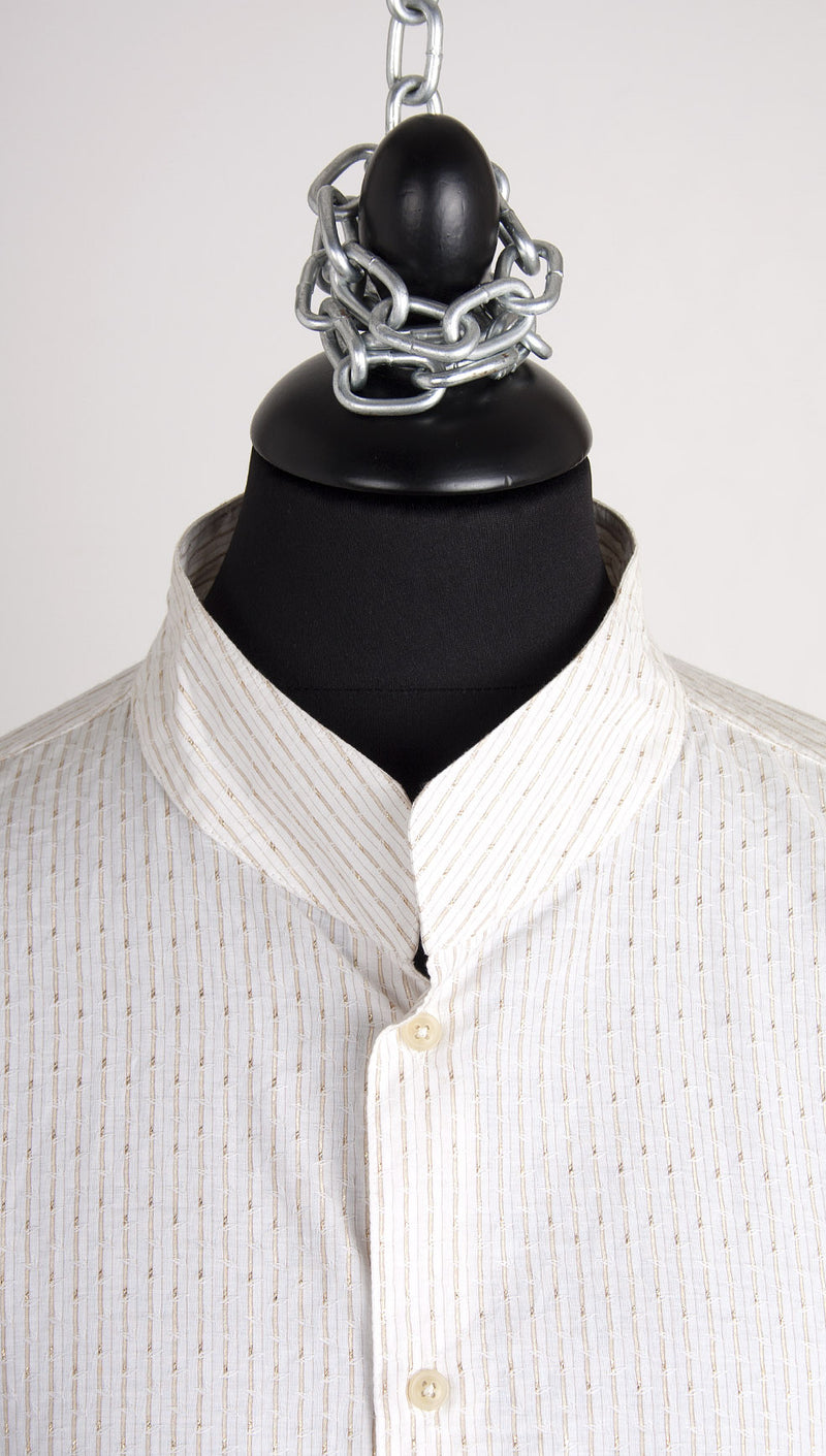 vivienne westwood man pocket shirt gold stripe collar