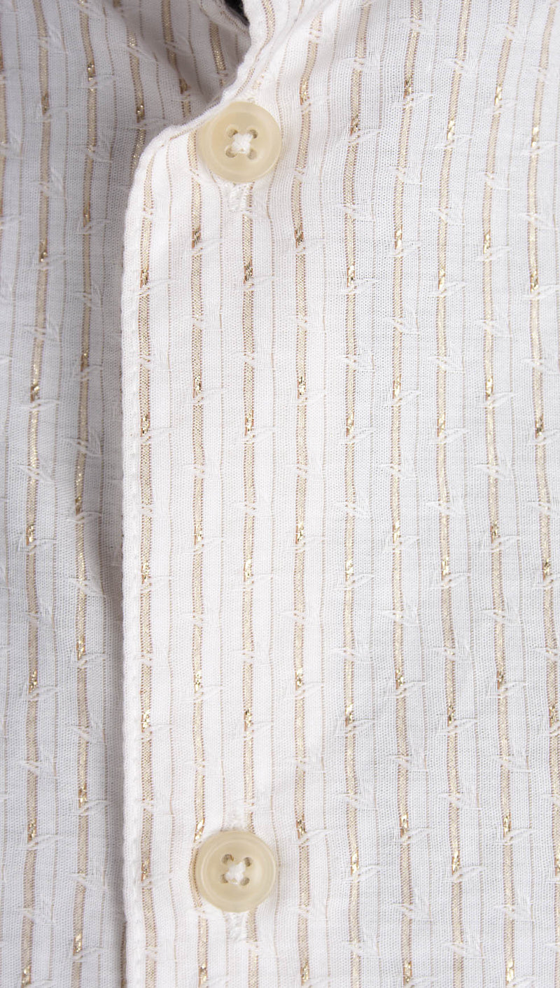 vivienne westwood man pocket shirt gold stripe buttons
