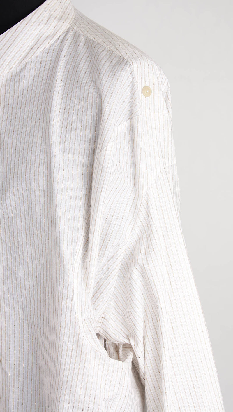 vivienne westwood man pocket shirt gold stripe pocket detail