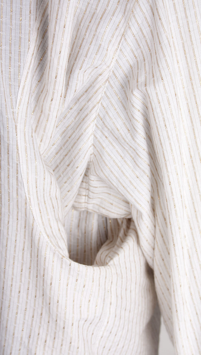 vivienne westwood man pocket shirt gold stripe pocket close up