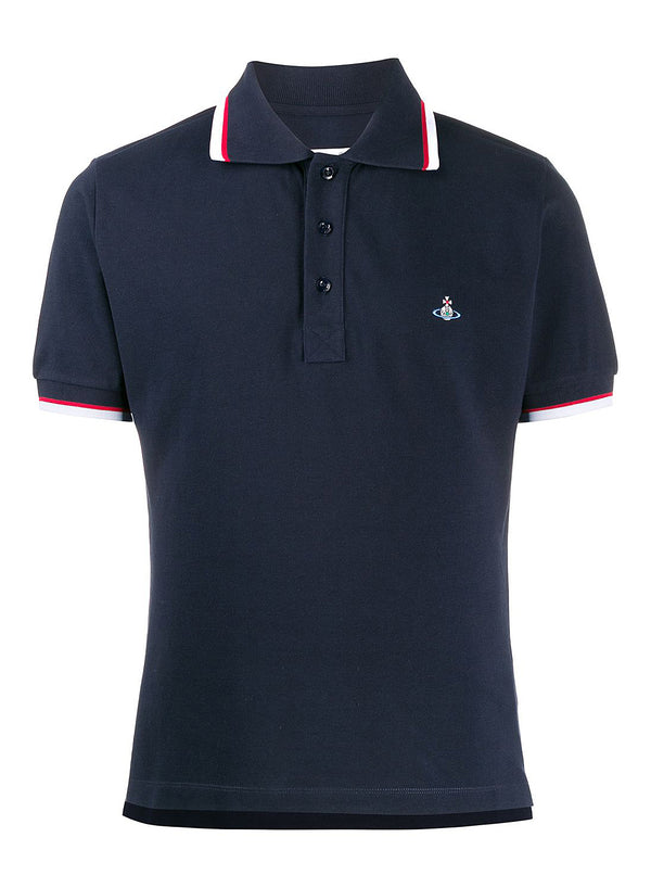 vivienne westwood classic pique polo navy ss 2020