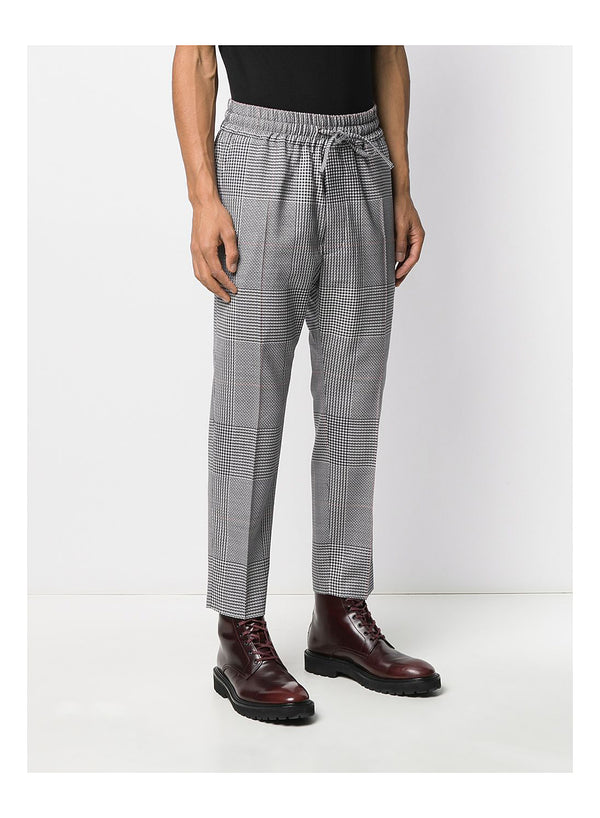 Prince Of Wales Elastic Crop George Trouser - Prince of Wales