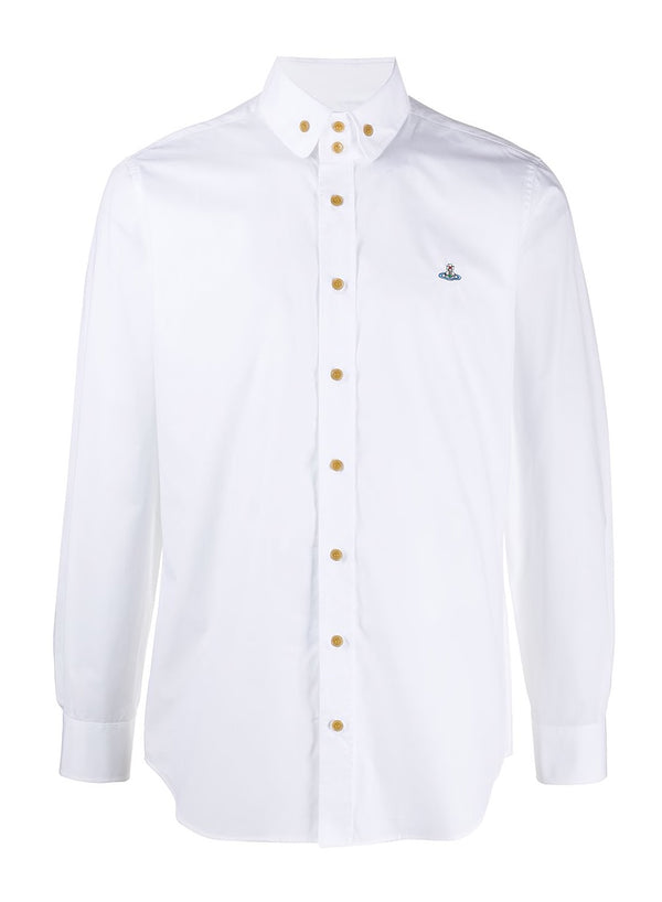 vivienne westwood 2 button krall shirt white ss 2021