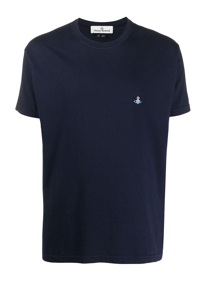 vivienne westwood classic orb tee navy aw 2020