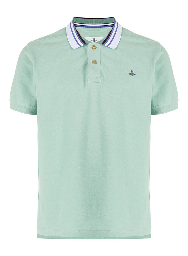 vivienne westwood classic polo stripe collar mint ss 2021