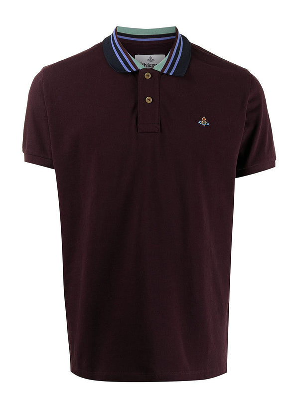 vivienne westwood classic polo stripe collar wine tasting ss 2021