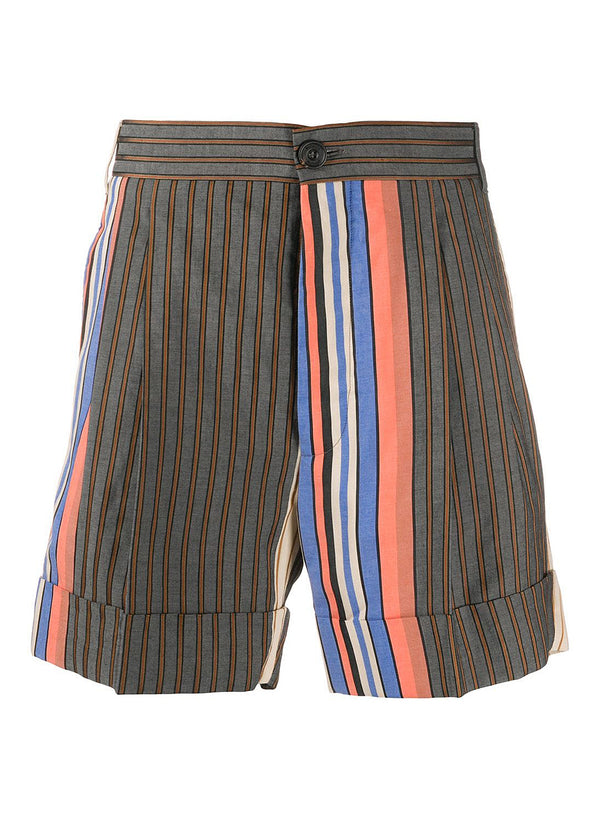vivienne westwood crazy stripes george shorts multi ss 2020