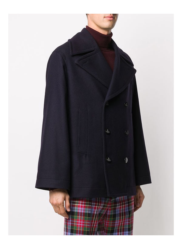 Melton Wool Peacoat - Navy Blue