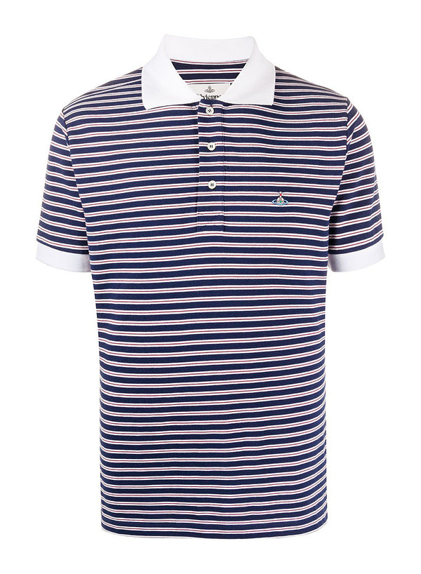 vivienne westwood organic stripe pique polo shirt red stripes ss 2020