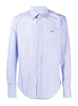 vivienne westwood slim shirt classic stripes blue stripe aw 2020