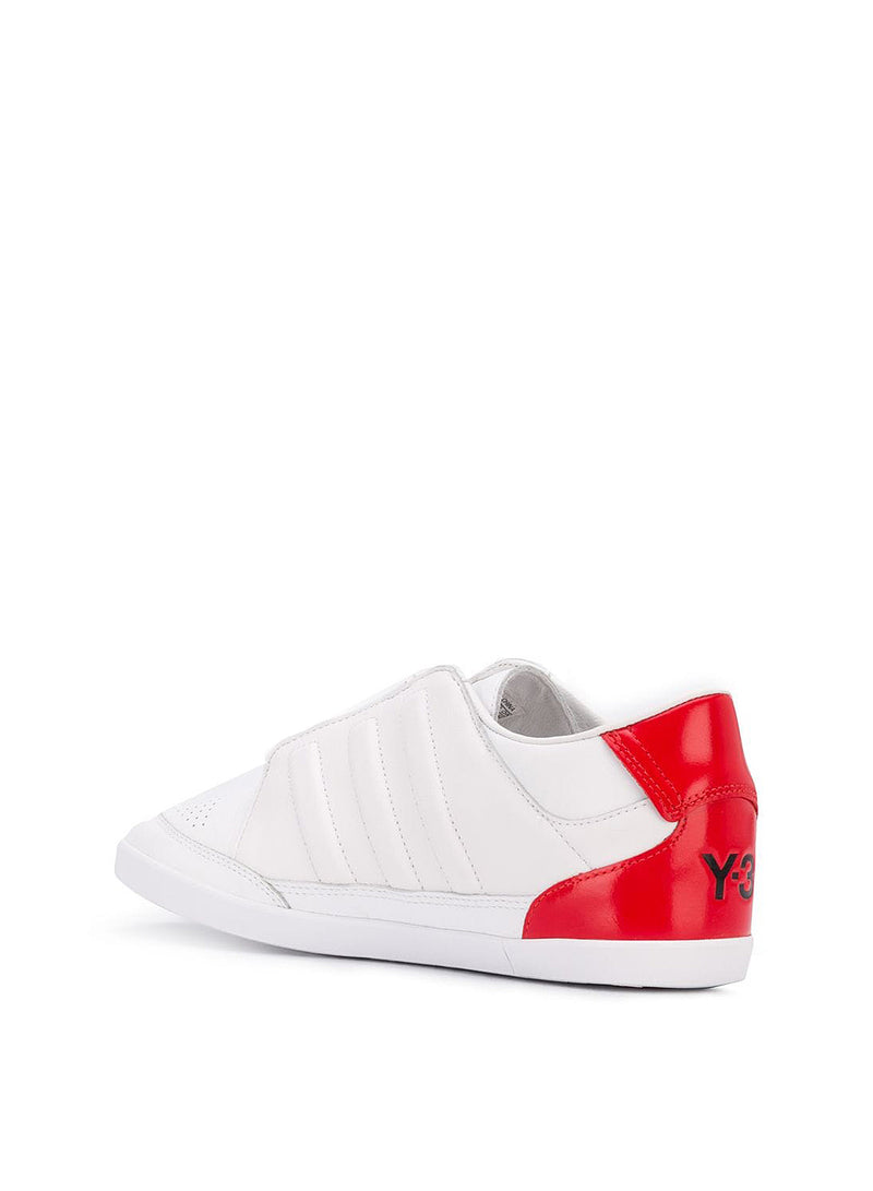 Honja Low Trainer - White/White/Red