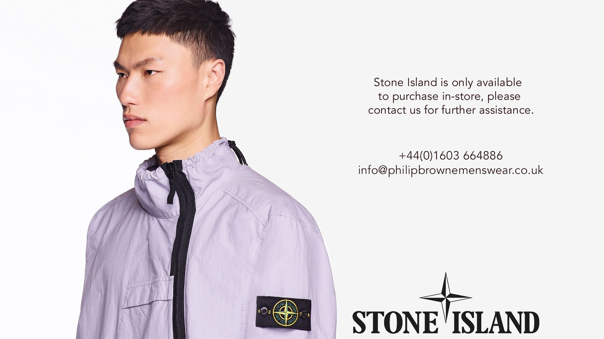 Stone Island is only available to purchase in-store, please contact us for further assistance