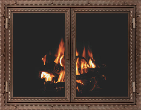 Black Smith Fireplace Door By Stoll