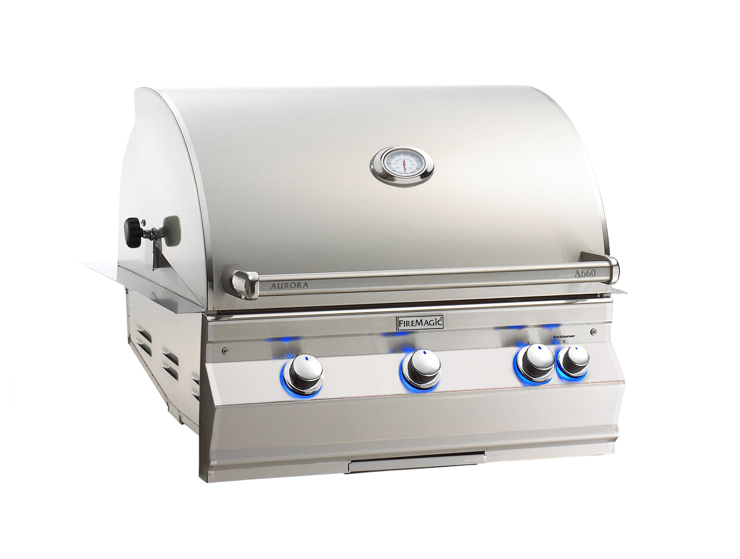 Fire Magic Aurora A660i Natural Gas Built In Grill With Rotisserie