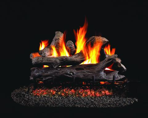 Coastal by Peterson Real Fyre Gas Log Set Vented with Variable Height Remote