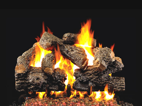 Charred Royal English by Peterson Real Fyre Gas Log Set Vented
