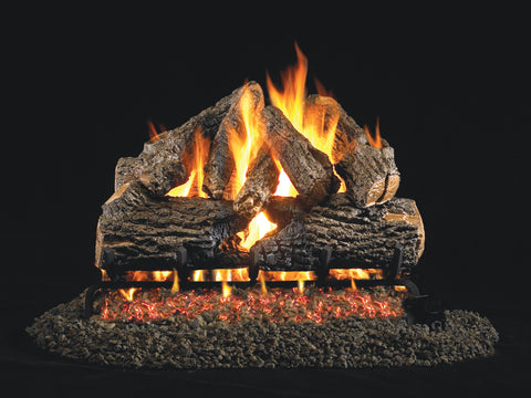 Charred Oak by Peterson Real Fyre Gas Log Set Vented