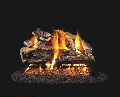Real Fyre Charred Rugged Split Oak Gas Logs