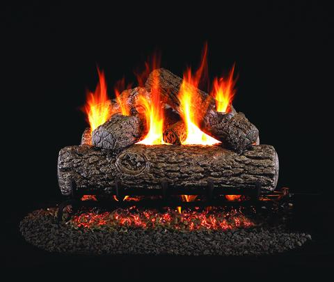 Golden Oak by Peterson Real Fyre Gas Log Set Vented with Variable Height Remote