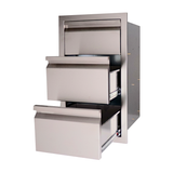 RCS Double Drawer With Paper Towel Drawer Combo