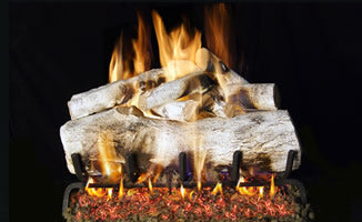 Mountain Birch by Peterson Real Fyre Gas Log Set Vented with Variable Height Remote