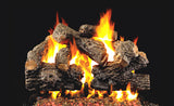 Charred Royal English by Peterson Real Fyre Gas Log Set Vented with Variable Height Remote