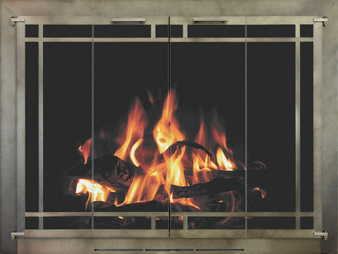 Bar Iron Fireplace Doors By Stoll