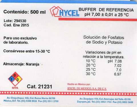 BUFFER DE REFERENCIA pH 7.0