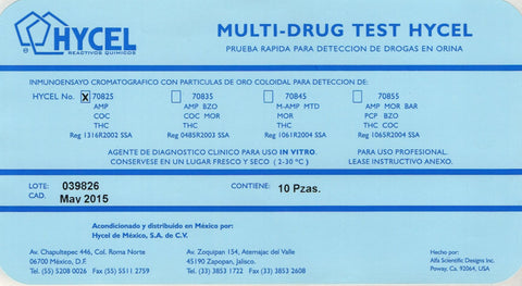MULTI-DRUG TEST HYCEL 3