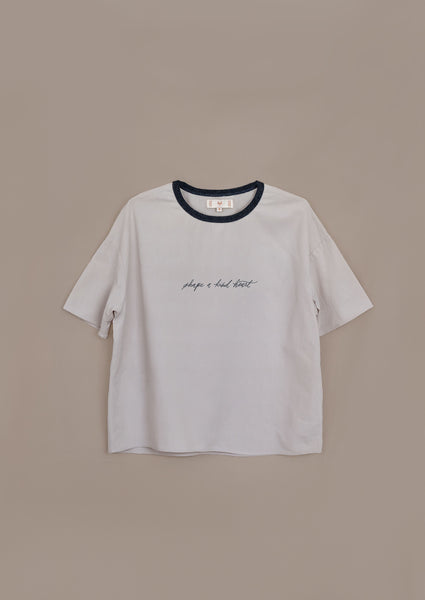 "Intuit Tee ¦ Neutral ¦ ""Shape a Kind Heart"" Embroidery"
