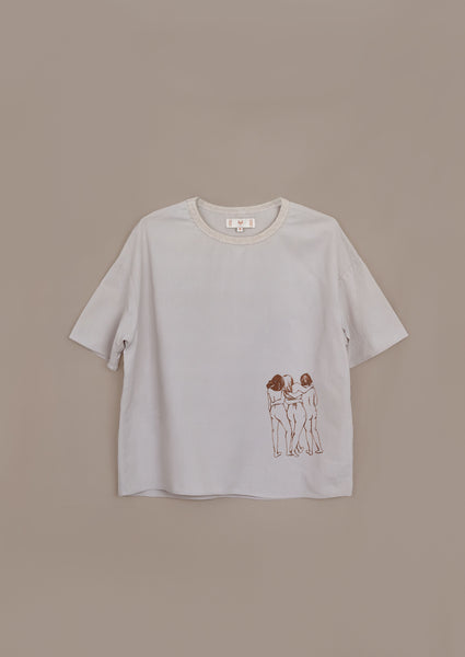 Intuit Tee ¦ Neutral ¦ Kindred Embroidery