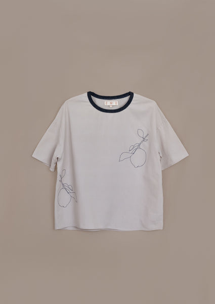 Intuit Tee ¦ Neutral ¦ Lemon Branch Embroidery