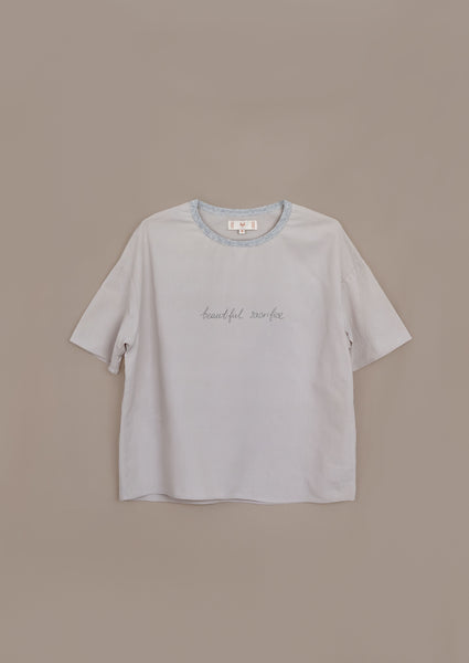 "Intuit Tee ¦ Neutral ¦ ""Beautiful Sacrifice"" Embroidery"