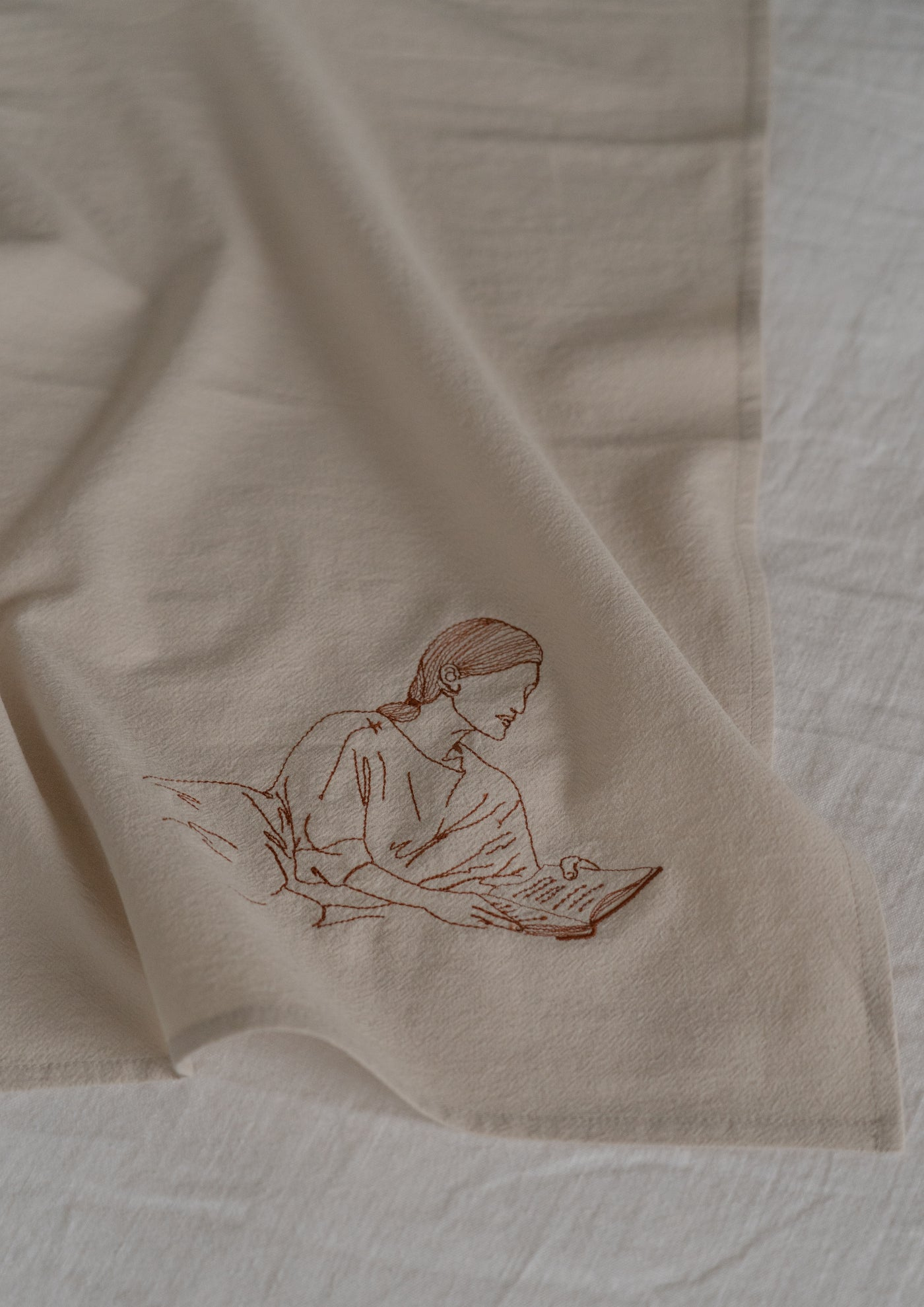Tea Towel ¦ Neutral ¦ Curator I Embroidery