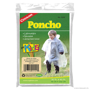 COGHLAN'S PONCHO FOR KIDS CLEAR