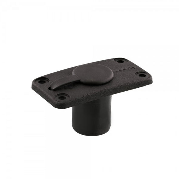 SCOTTY FLUSH DECK MOUNT, BLACK, W/RAIN CAP
