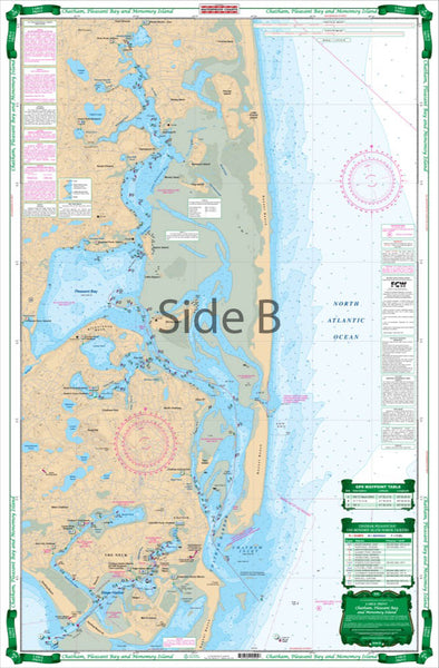NAUTICAL CHART 50E CHATHAM, PLEASANT BAY AND MONOMOY ISLAND