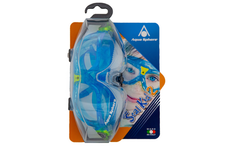 AQUA SPHERE SEAL KID 2 BLUE LENS GOGGLE