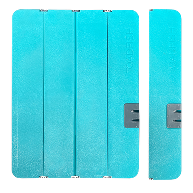 TOADFISH STOWAWAY FOLDING CUTTING BOARD WITH BUILT IN KNIFE SHARPENER TEAL