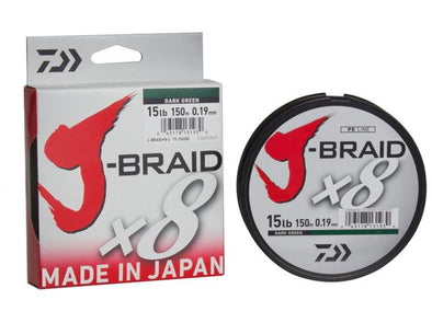 DAIWA J-BRAID X8- DARK GREEN - 330 YARDS