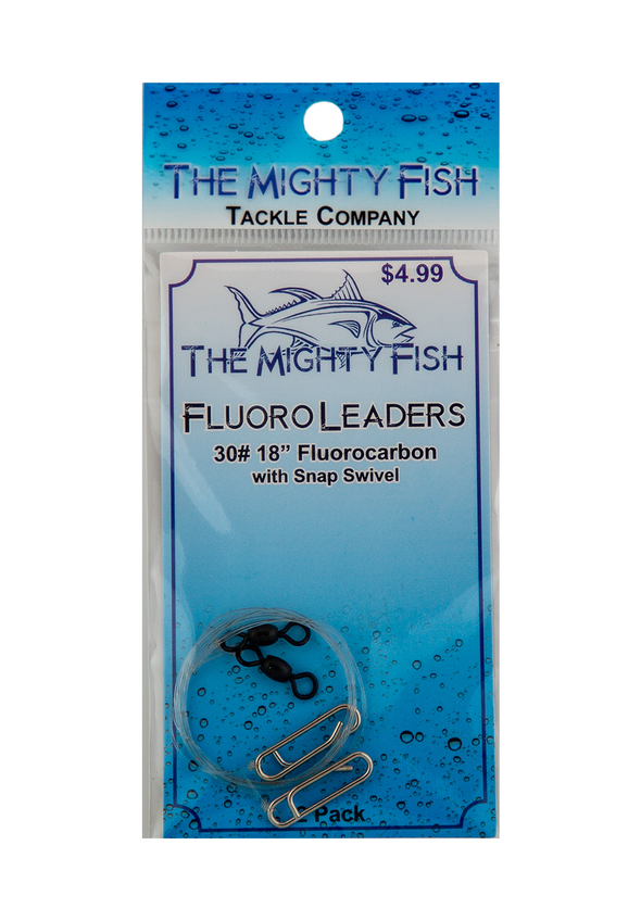 THE MIGHTY FISH FLUOROCARBON LEADER WITH CLIP