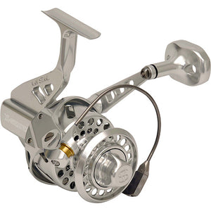BUY A VAN STAAL X SERIES BAILED POLISHED SILVER SPINNING REEL AND GET IT SPOOLED FOR FREE!