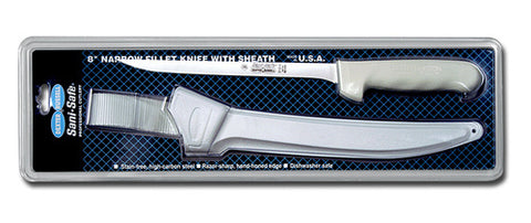 "DEXTER 8"" SANI-SAFE FILLET KNIFE W/SHEATH"