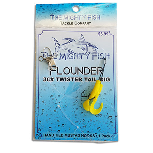 THE MIGHTY FISH TACKLE COMPANY FLOUNDER RIG WITH YELLOW GRUB