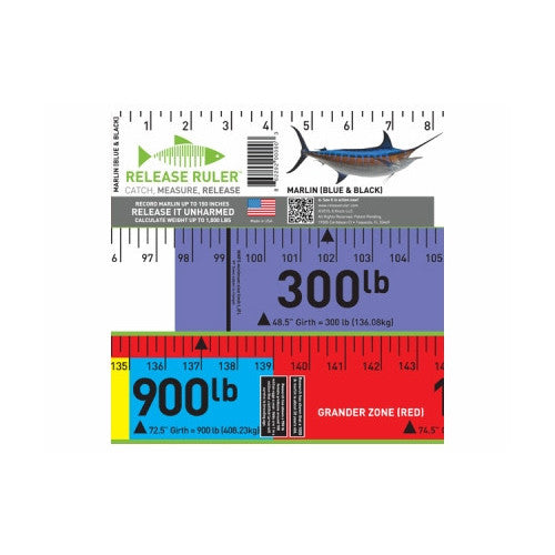 RELEASE RULER MARLIN (BLUE & BLACK)