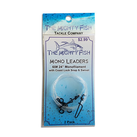 THE MIGHTY FISH TACKLE COMPANY MONO LEADER WITH SNAP