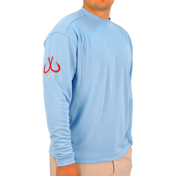 MONTAUK TACKLE COMPANY MEN'S PERFORMANCE CREWNECK