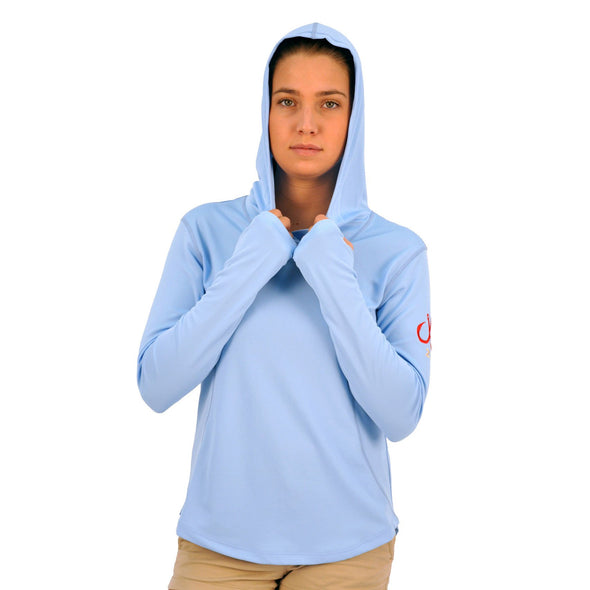 MONTAUK TACKLE COMPANY WOMEN'S PERFORMANCE HOODIE